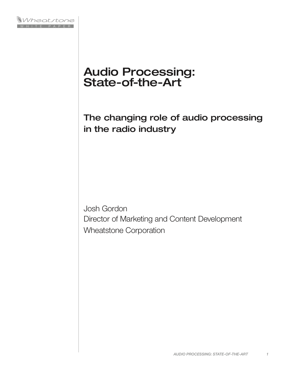 State of the Art Processing White Paper